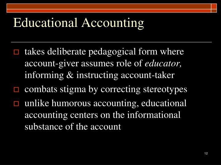 Educational Accounting