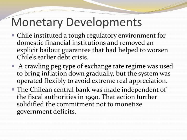 Monetary Developments