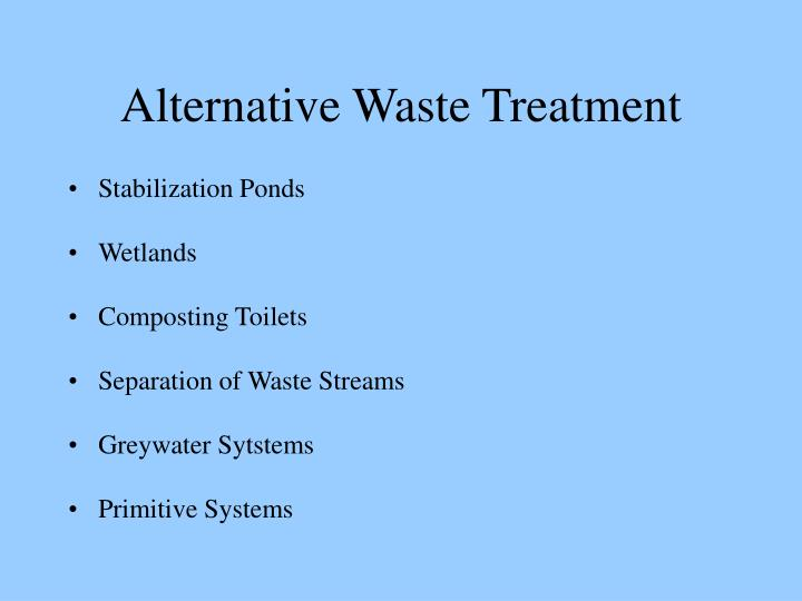 Alternative Waste Treatment