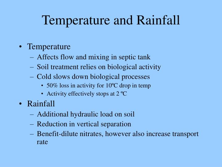 Temperature and Rainfall
