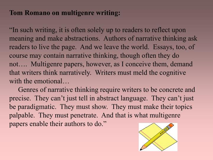 Tom Romano on multigenre writing: