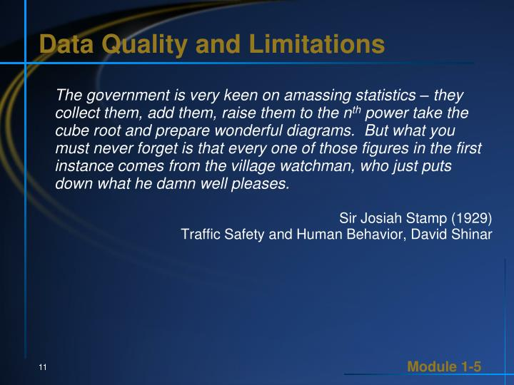 Data Quality and Limitations