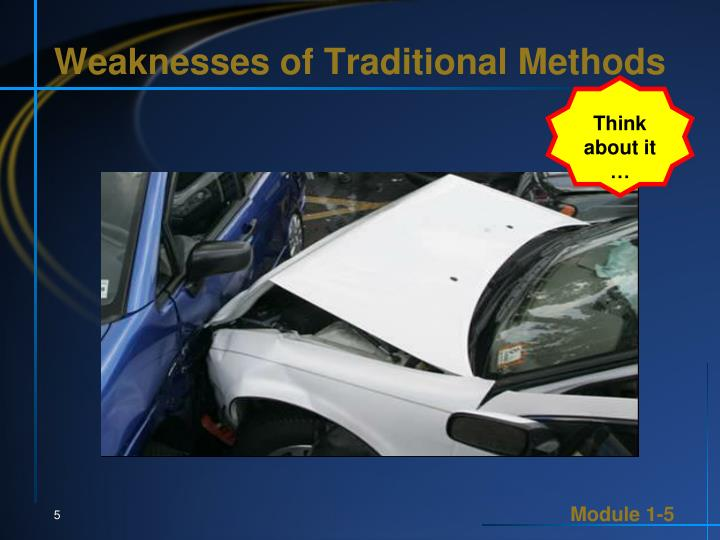 Weaknesses of Traditional Methods
