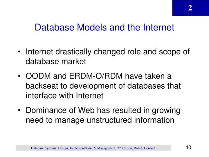 Database Models and the Internet