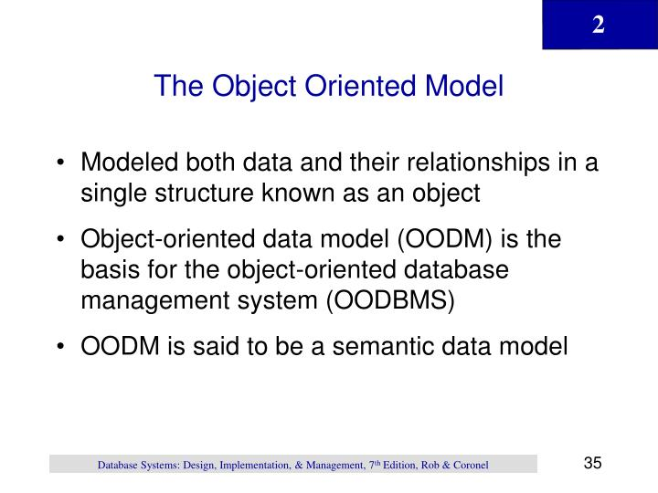 The Object Oriented Model