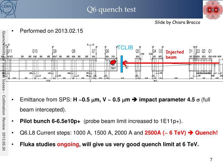 Q6 quench test