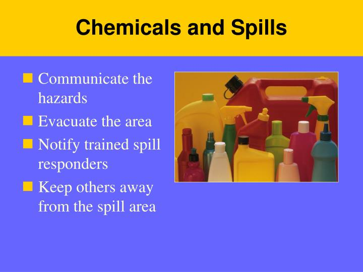 Chemicals and Spills