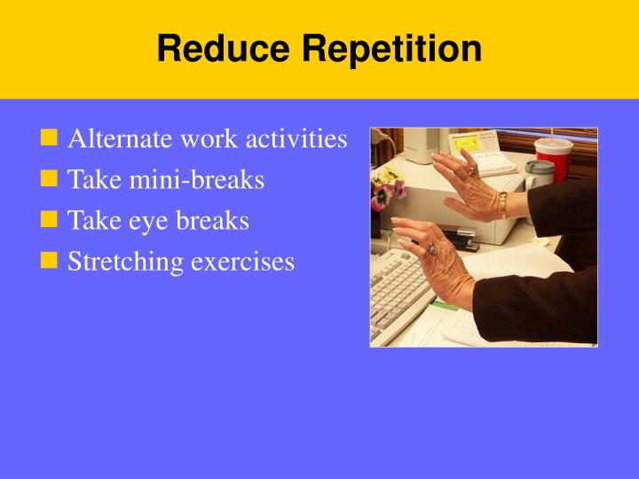 Reduce Repetition
