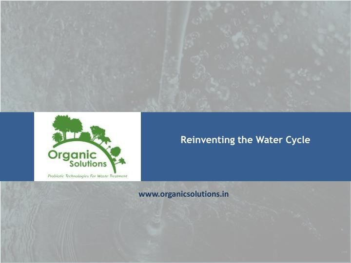 Reinventing the Water Cycle