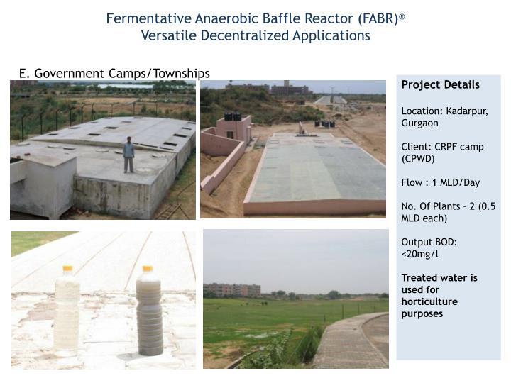 Fermentative Anaerobic Baffle Reactor (FABR)