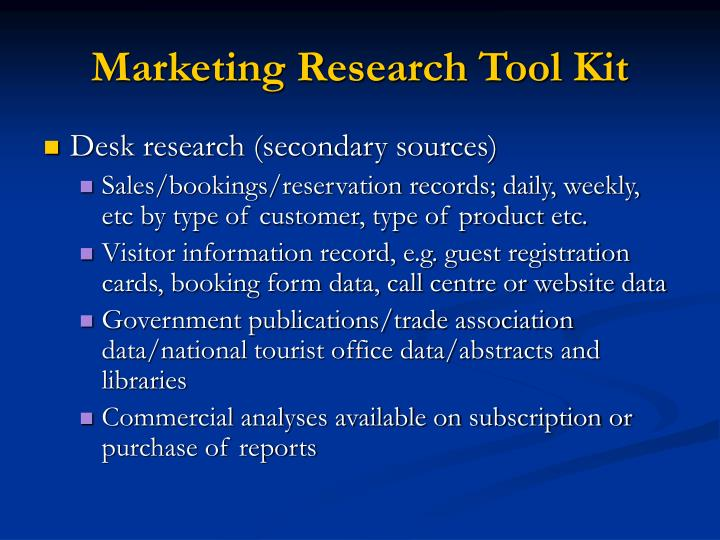 Marketing Research Tool Kit