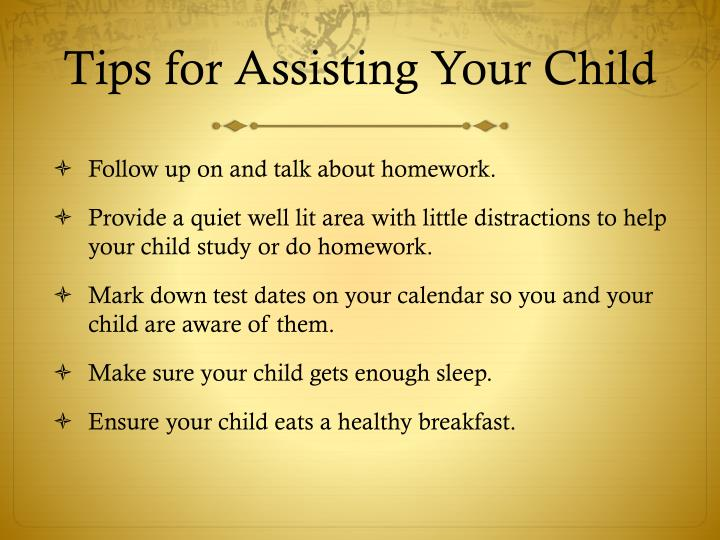 Tips for Assisting Your Child