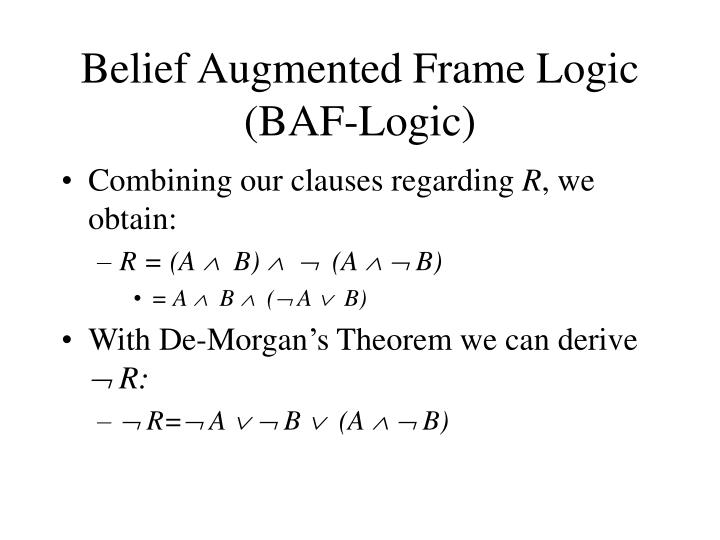 Belief Augmented Frame Logic