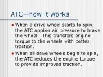 atc how it works