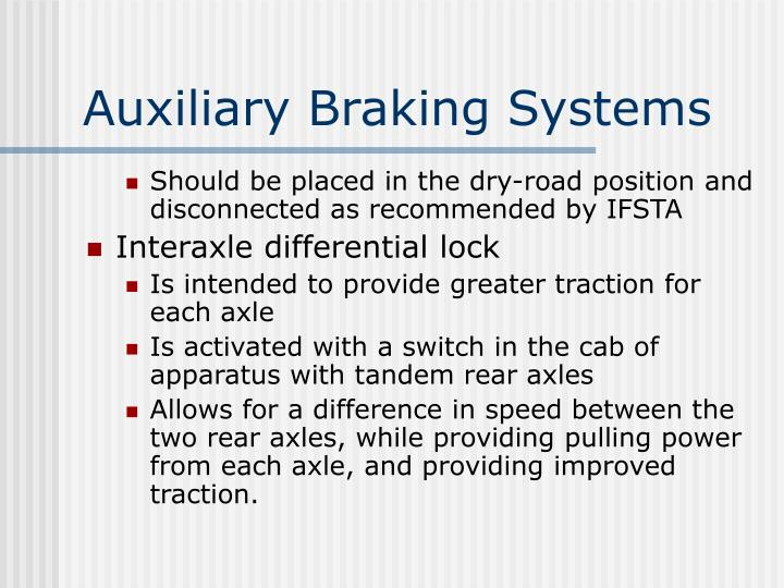 Auxiliary Braking Systems