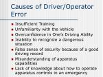 causes of driver operator error