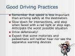 good driving practices