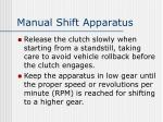 manual shift apparatus1