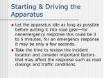 starting driving the apparatus1