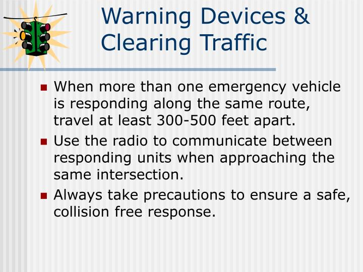 Warning Devices &