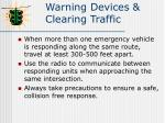 warning devices clearing traffic2