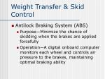 weight transfer skid control4