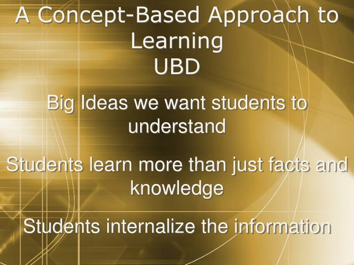 A Concept-Based Approach to Learning