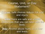 course unit or day statement1