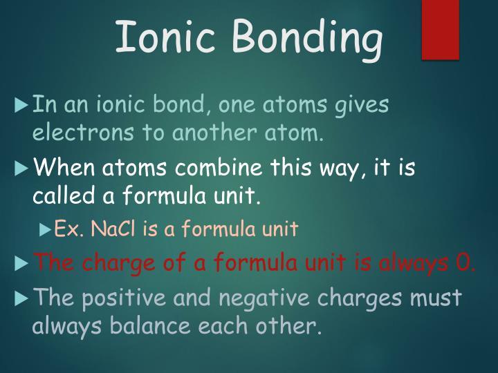 Ionic Bonding