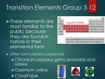transition elements group 3 12