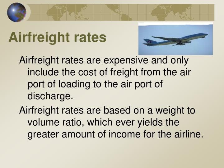 Airfreight rates