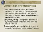 competition oriented pricing