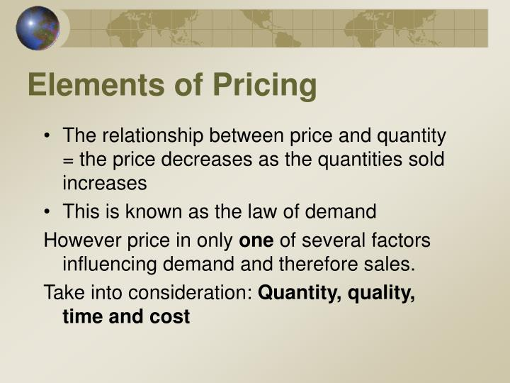 Elements of Pricing