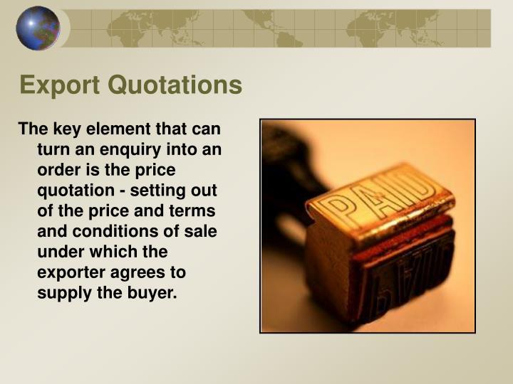 Export Quotations