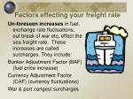 factors effecting your freight rate