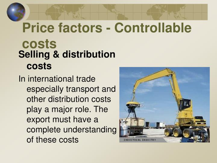 Price factors - Controllable costs