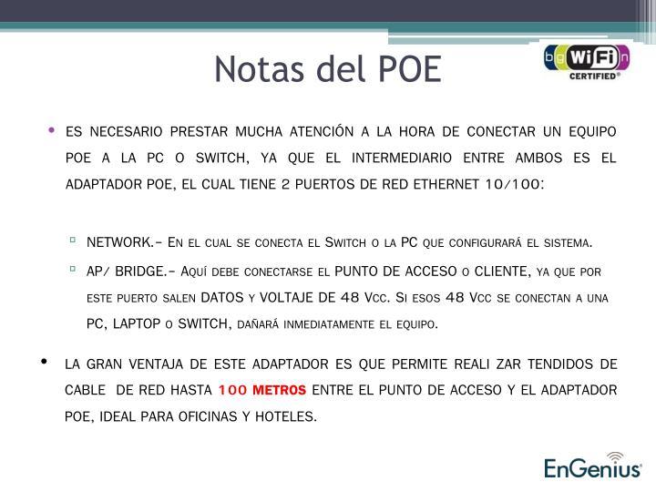 Notas del POE