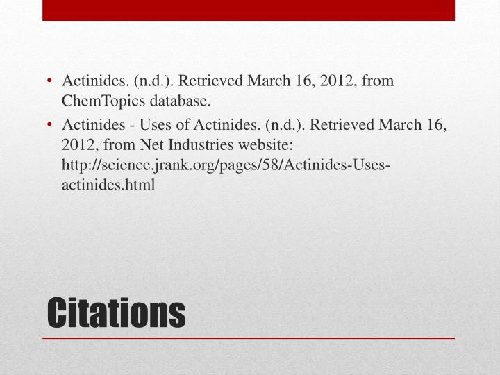 Actinides. (