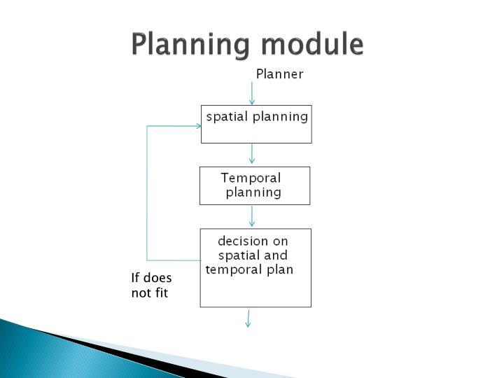 Planning module