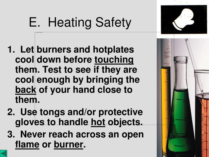 1.  Let burners and hotplates cool down before