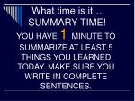 what time is it summary time2