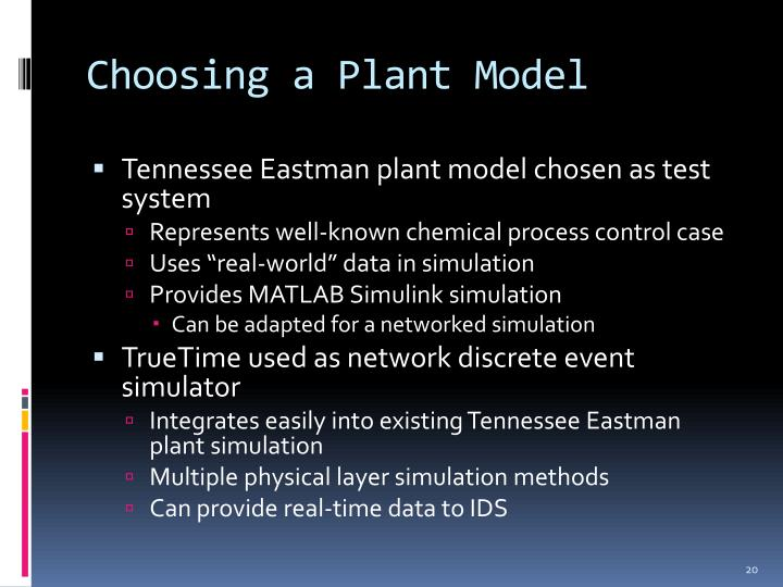 Choosing a Plant Model