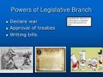 powers of legislative branch