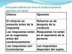 principales diferencias entre el condicionamiento operante y el cl sico