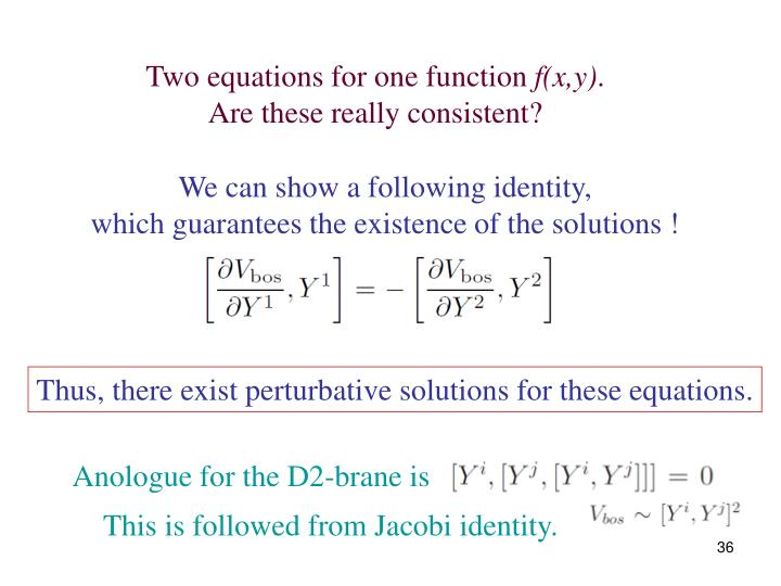 Two equations for one function