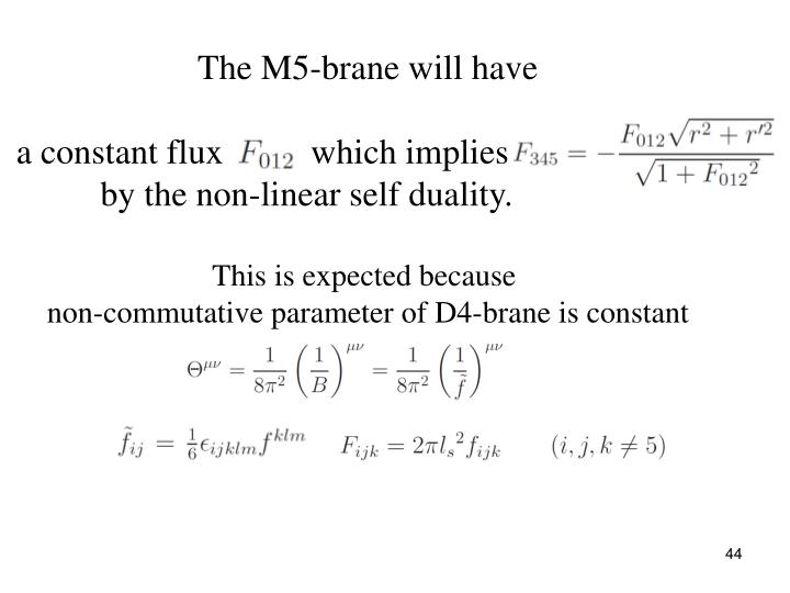The M5-brane will have
