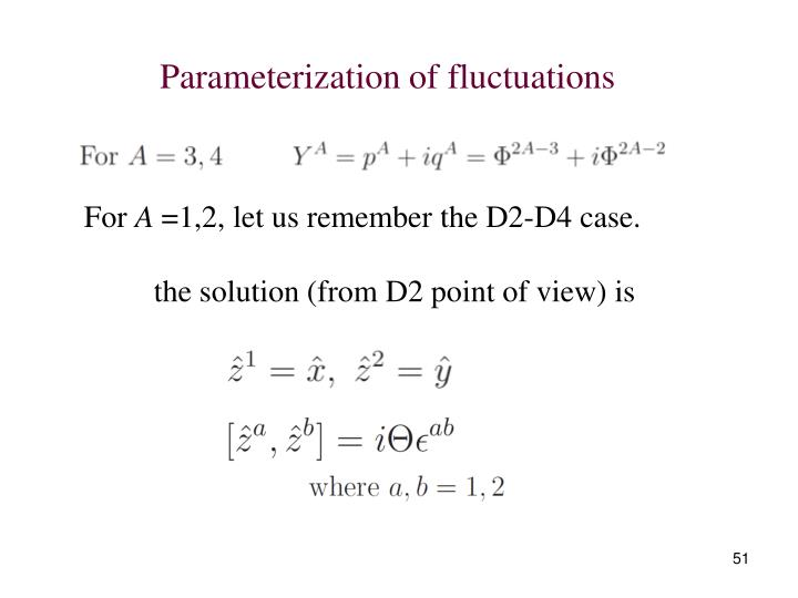 Parameterization of fluctuations