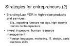strategies for entrepreneurs 2