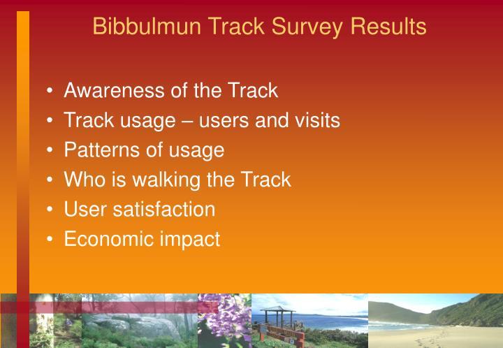 Bibbulmun Track Survey Results