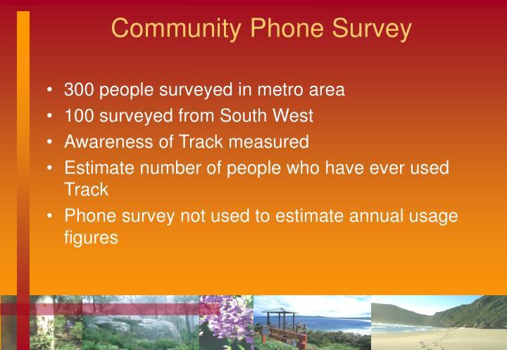 Community Phone Survey